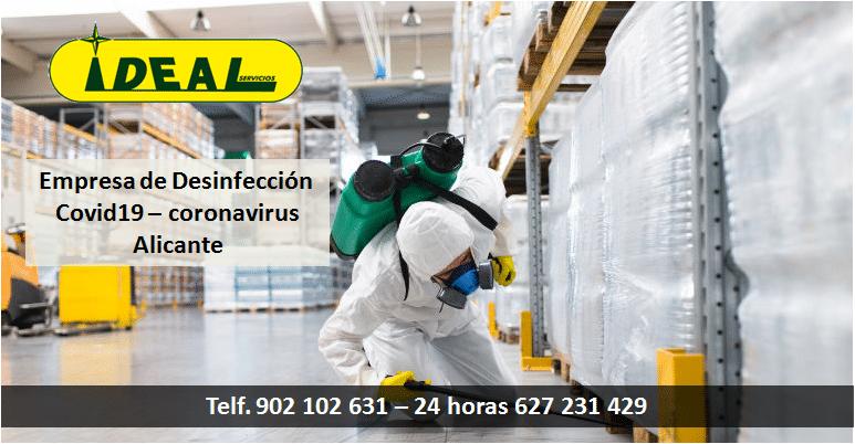 Empresa de desinfección en Alicante