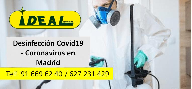 Desinfección Covid-19 Madrid